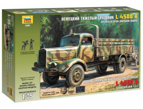 Zvezda 4WD Cargo Truck L 4500A Schwerer LKW 4,5t 1:35 (3596)
