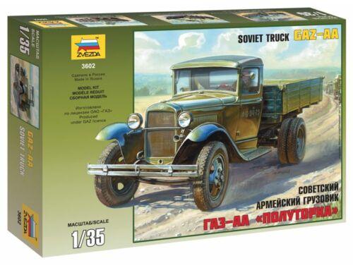 Zvezda GAZ-AA Soviet Army 1,5 Ton Truck WWII 1:35 (3602)