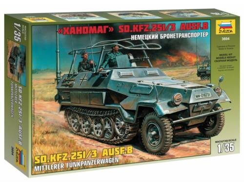 Zvezda 1:35 Sd.Kfz.251/3 Ausf. B Comm. Vehicle 1:35 (3604)