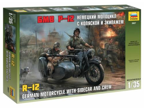 Zvezda German WWII Sidecar R12 with crew 1:35 (3607)