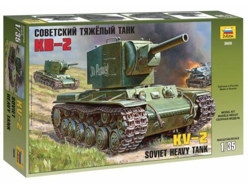 Zvezda Military KV-2 Russian Tank 1:35 (3608)