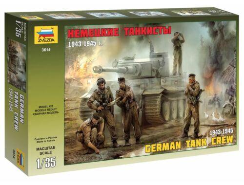 Zvezda German Tank Crew WWII Late 1:35 (3614)