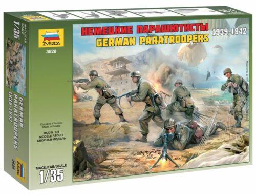 Zvezda German Paratroops WWII 1:35 (3628)