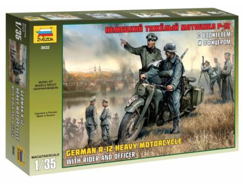 Zvezda German WWI Single Motorcycle 1:35 (3632)