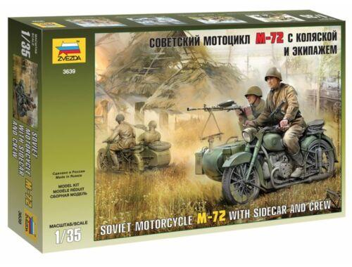 Zvezda Military Soviet WWII Motorcycle M-72 1:35 (3639)