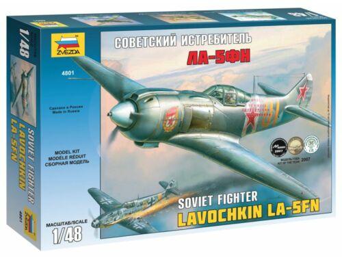 Zvezda La-5FN Soviet Fighter w/interior 1:48 (4801)