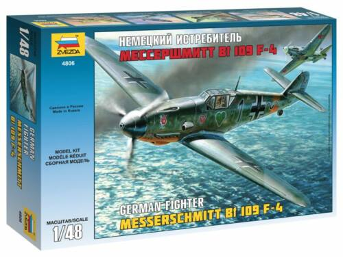Zvezda Messerschmitt Bf-109 F4 1:48 (4806)