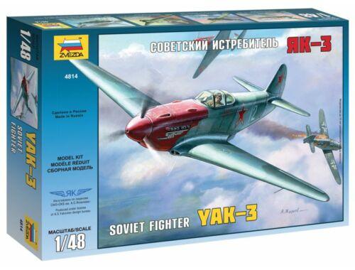 Zvezda Yakovlev YAK-3 Soviet Fighter 1:48 (4814)