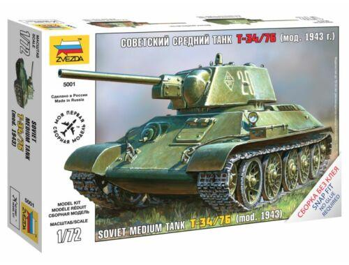 Zvezda T-34 Soviet Medium Tank 1:72 (5001)