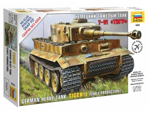 Zvezda 1:72 Tiger I German Tank 1:72 (5002)