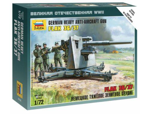 Zvezda German 88 mm Flak 1936/37 1:72 (6158)