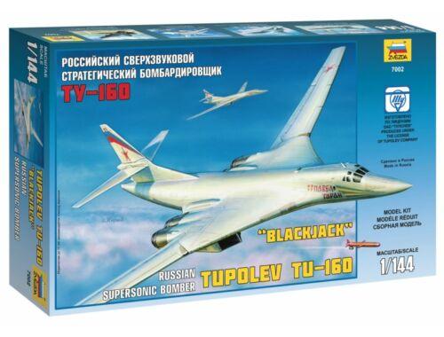 Zvezda Tupoljev TU-160 szuperszonikus bombázó `Blackjack` 1:144 (7002)