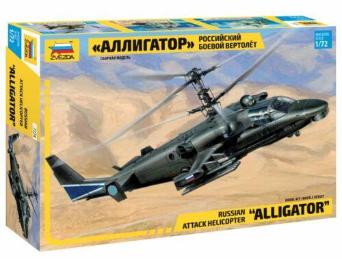 Zvezda Kamov Ka-52 `Alligator` Combat Helicopter 1:72 (7224)