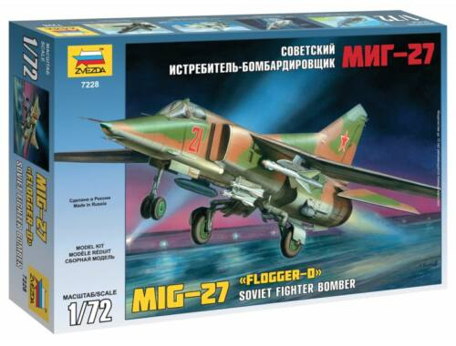 Zvezda MiG-27 Russian Attack Fighter 1:72 (7228)