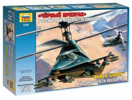 Zvezda KAMOV Ka-58 `Black Ghost` stealth helicopter 1:72 (7232)