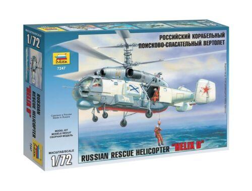 Zvezda KA-27 Rescue Helicopter HELIX D 1:72 (7247)