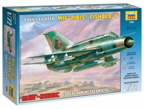 Zvezda MiG-21bis Soviet Fighter 1:72 (7259)