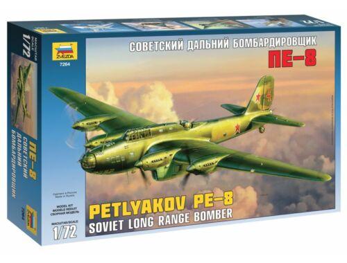 Zvezda Petljakov Pe-8 Soviet long range bomber 1:72 (7264)