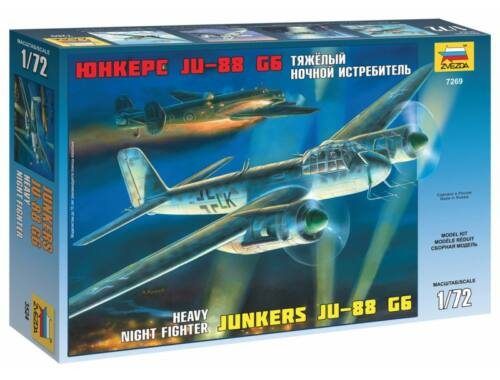 Zvezda Junkers Ju-88G6 German bomber 1:72 (7269)