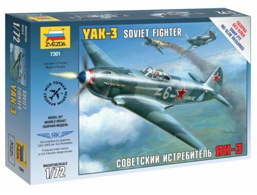 Zvezda Airplanes Yak-3 Soviet Fighter 1:72 (7301)