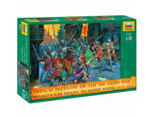 Zvezda French Infantry Of The 100 Years War 1:72 (8053)