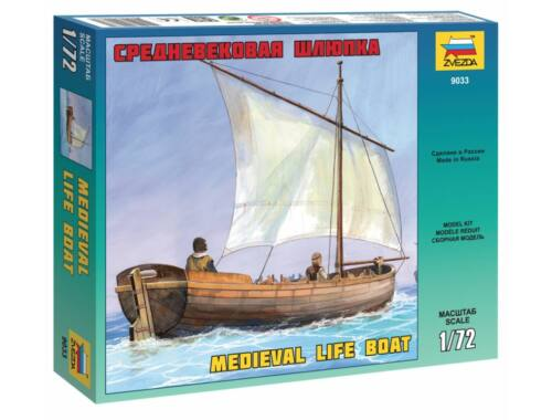 Zvezda Medieval Life Boat 1:72 (9033)