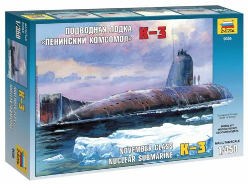 Zvezda K-3 Nuclear Submarine `November Class` 1:350 (9035)