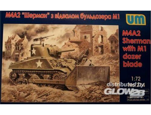 Unimodel Tank M4A2 with M1 Dozer Blade 1:72 (214)
