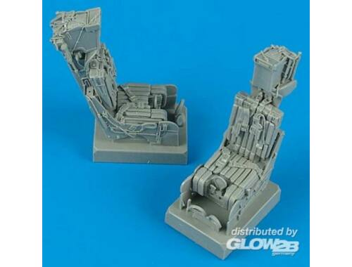 Quickboost F-14A ejection seats with safety belts für Hasegawa Bausatz 1:32 (32033)