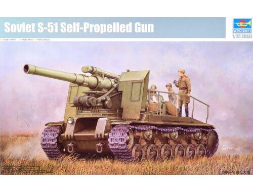 Trumpeter Soviet S-51 Self-Propelled Gun 1:35 (5583)