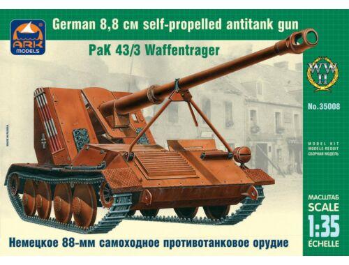 ARK Model German 8,8cm self-pr. antitank gun PaK 1:35 (35008)