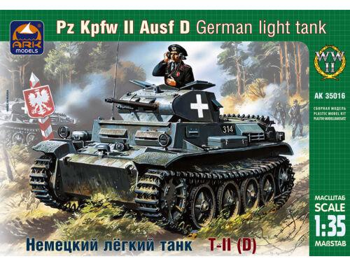 ARK Model German light tank Pz Kpfw II Ausf D 1:35 (35016)