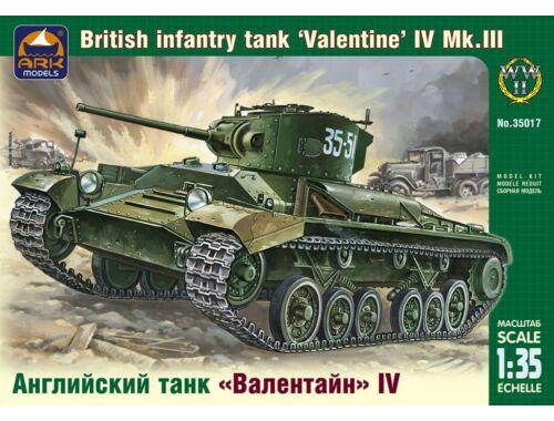 "ARK Model British inf. tank ""Valentine"" IV Mk.III PzKpf38(t) Ausf.G 1:35 (35017)"