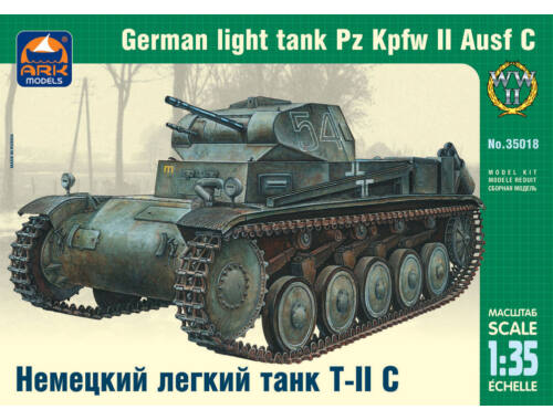 ARK Model German light tank Pz Kpfw II Ausf C 1:35 (35018)