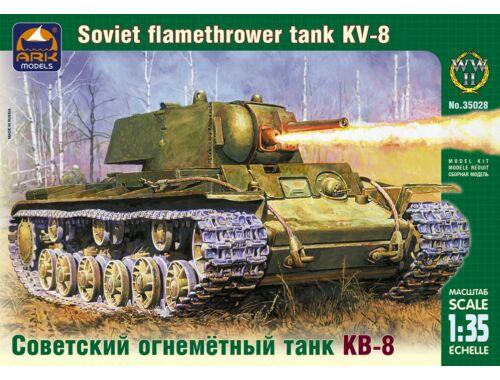 ARK Model Russian heavy flamethrower tank KV-8 1:35 (35028)