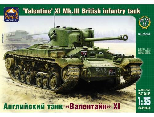 "ARK Model British inf. tank ""Valentine"" XI Mk.III 1:35 (35032)"