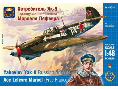 ARK Model Yakovlev Yak-9 Russian fighter France 1:48 (48014)