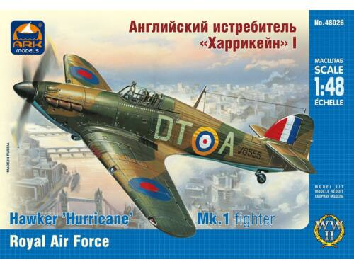 ARK Model Hawker Hurricane Mk.1 Royal Air Force 1:48 (48026)