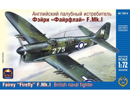 """ARK Model Fairey """"Firefly"""" F. Mk.I naval fighter 1:72 (72014)"""