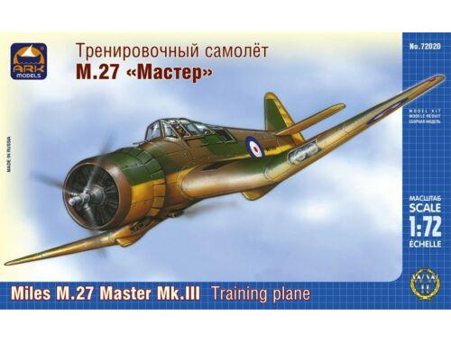 "ARK Model Miles M.27 ""Master"" Mk.III train. plane 1:72 (72020)"