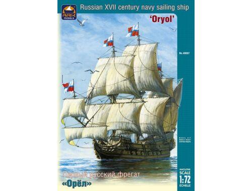 """ARK Model """"Oryol"""" Russian Navy Training Tall Ship 1:72 (40007)"""