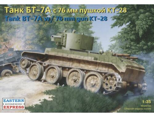 Eastern Express BT-7A Russian artillery light tank with KT-28 76.2 mm gun 1:35 (35114)