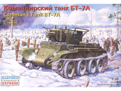 Eastern Express BT-7A Russian command light tank with KT-28 76.2 mm gun 1:35 (35115)