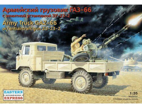 Eastern Express GAZ-66 with anti-aircraft gun ZU-23-2 1:35 (35132)