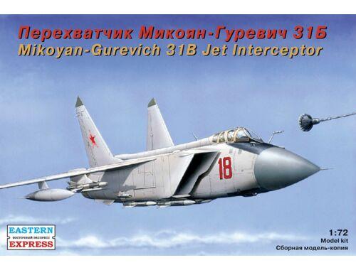 "Eastern Express MiG-31 B ""Foxhound"" Russ jet interceptor 1:72 (72115)"