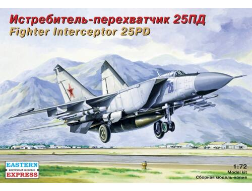 Eastern Express MiG-25 PD Russ jet fighter-interceptor 1:72 (72124)