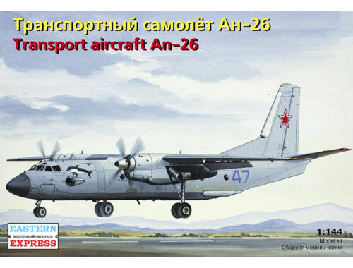 Eastern Express Antonov AN-26 Russian military transport aircraft, the Russian 1:144 (14483)