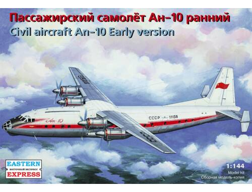 Eastern Express Antonov AN-10 Russian medium-haul passanger aircraft 1:144 (14484)