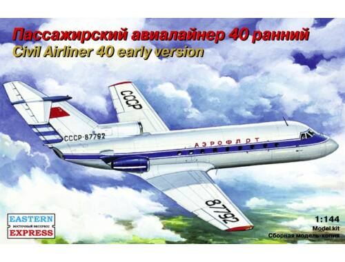 Eastern Express Yakovlev Yak-40 Russian short-haul airli 1:144 (14492)