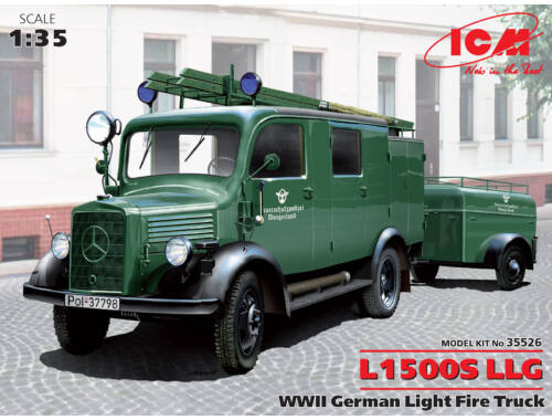 ICM L1500S LLG, WWII German Light Fire Truck 1:35 (35526)